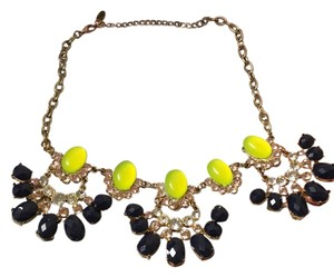 Other Navy Blue & Lime Green Necklace