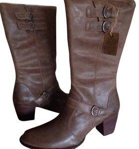 Børn Tall Tan Leather Taupe Boots