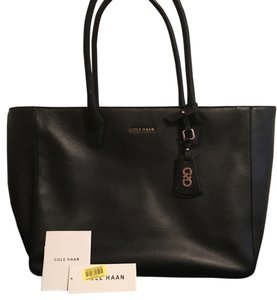 Cole Haan Leather Large Tote in Black