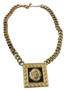 Gold& black link lion Necklace Gold & Black Gold Link Necklace