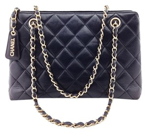 Chanel Leather Tote Handbag Shoulder Bag