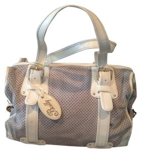 Bally Perforated Patent Suede Grey Travel Bag