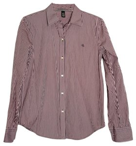Lauren Ralph Lauren Button Down Shirt pink and purple