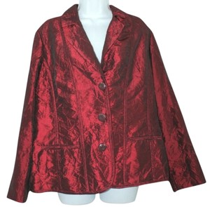 Chico's Wrinkled Jacket BURGUNDY Blazer