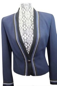 Ellen Tracy Linda Allard Jacket NAVY BLUE Blazer