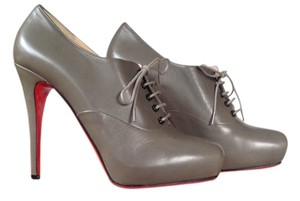 Christian Louboutin Lace Up 39 8 Dark Grey Boots