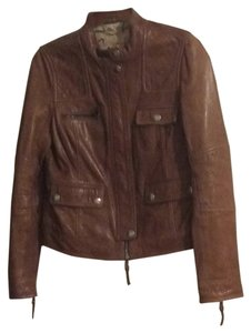 Coach Whiskey brown Leather Jacket