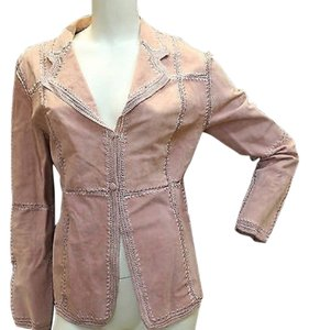 IDI Suede Leather PINK Jacket