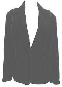 Lane Bryant Velvet Jacket BLACK Blazer