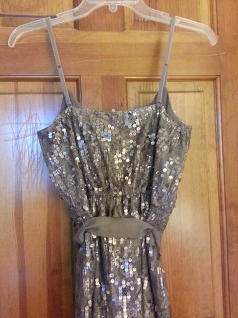 Express Sequin Shimmer Lace Bow Dress