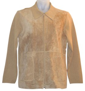 Dialogue Suede Brown Leather Jacket