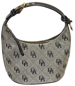 Dooney & Bourke Logo Canvas Satchel in Black