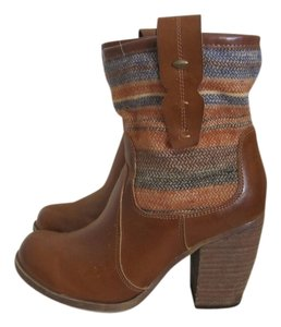 MIA Brown with fabric upper Boots