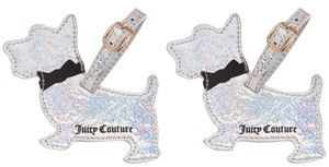 Juicy Couture Limited Edition Silver Scotty Dog Luggage Tags, Set of 2