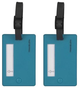 Travelon Aqua / Turquoise Luggage Tags, Set of 2