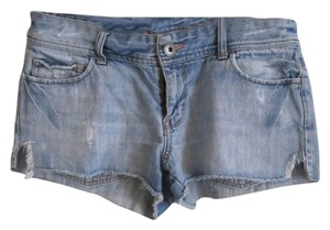 American Eagle Outfitters Cut Off Shorts Light Blue Wash