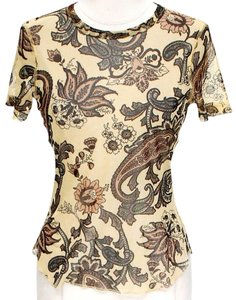 Karen Kane Sheer Silk Paisley Top