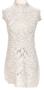 Zara short dress Beige Knit on Tradesy