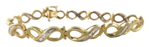 14KT Solid Yellow Gold Bracelet 55 Diamonds