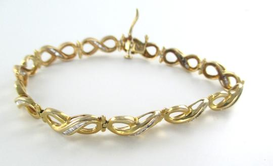 Other 14KT Solid Yellow Gold Bracelet 55 Diamonds