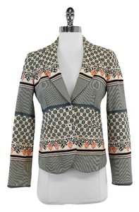 Etro Multi Color Floral Stripe Cotton Jacket