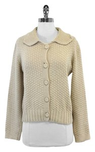 See by Chloé Cream Wool Peter Pan Neck Cardigan