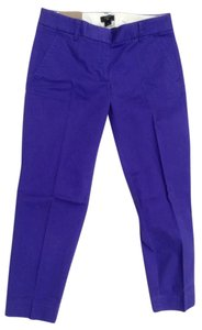J.Crew Skimmer City Fit Capri/Cropped Pants Purple