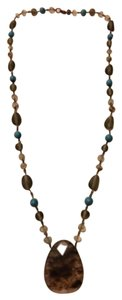 Express Teardrop Pendant Beaded Necklace