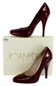 Joan & David Deep Red Patent Leather Heels Pumps