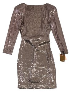 Ali Ro short dress Bronze Open Back Sequined on Tradesy