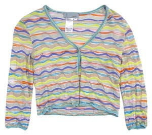Missoni Wavy Stripe Cropped Knit Cardigan