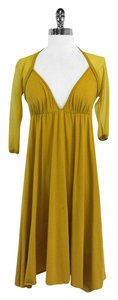 Jean-Paul Gaultier short dress Mustard Yellow Cutout on Tradesy