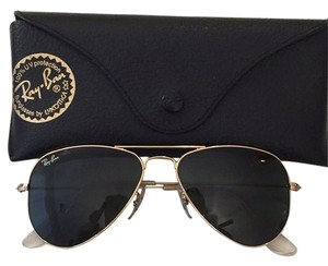 7a2a50d459 Ray-Ban Aviator Small. Ray-Ban Gold Black Aviator Small Sunglasses