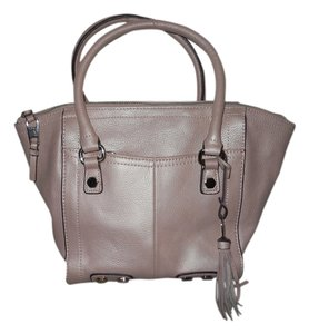 Tignanello Leather Satchel in pale pink