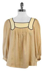 3.1 Phillip Lim Beige Silk Cotton Top