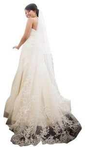 Bridal White Chapel Length Veil 100