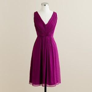 J.Crew Spiced Wine Silk Chiffon Louisa Destination Bridesmaid/Mob Dress Size 8 (M)
