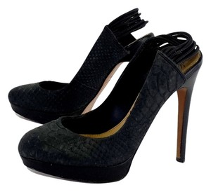 Mark & James by Badgley Mischka Black Alligator Skin Pumps