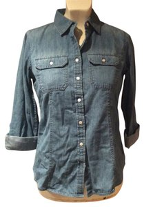 Talbots Button Down Shirt Jean Shirt