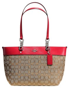 Coach Tote in true red