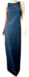 L.A. Glo Sheath Sleeveless Cutout Back Beaded Floor Length Dress