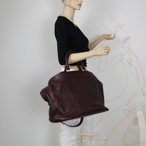 Tom Ford Leather Burgundy Travel Bag