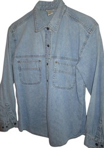Moda International Snap Shirt Button Down Shirt Denim