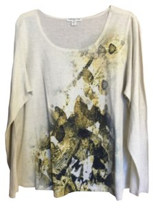 Coldwater Creek T Shirt Pale yellow