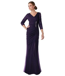 Adrianna Papell Ink (dark Navy) Adrianna Papell Sheer-sleeve Embellished Gown Dress