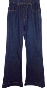 Roberto Cavalli Just Trouser/Wide Leg Jeans-Dark Rinse