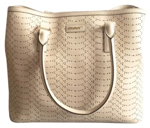 DKNY Carryall Leather Tote in Beige