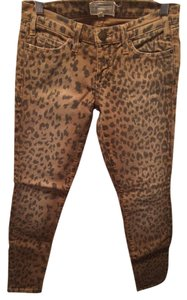 Current/Elliott Leopard Skinny Jeans-Distressed