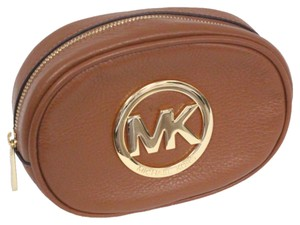 Michael Kors Michael Kors Fulton Luggage Leather Cosmetic Makeup Travel Bag Case