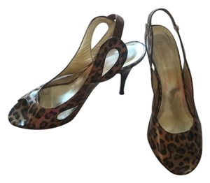 Georgina Goodman Black/brown patent animal print Pumps